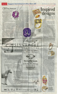 Singapore International Jewellery Show 2011 article strait times